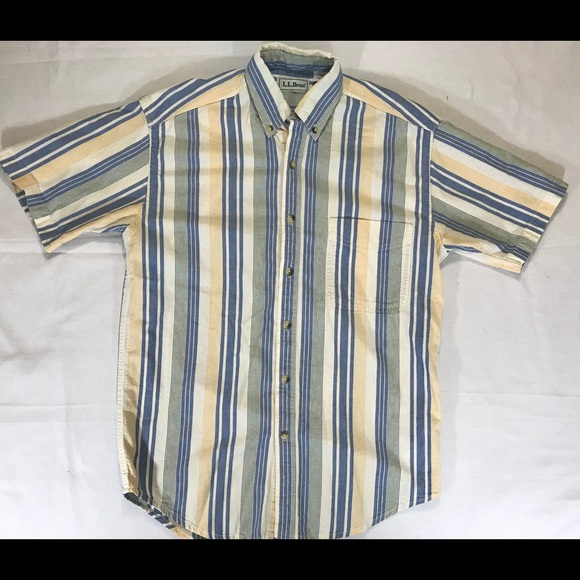 746f8a89ad L.L. Bean Shirts | Vtg Ll Bean Shirt Button Up Striped Large Reg ...